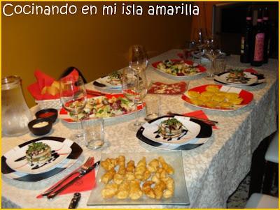 especial raciones cena para 5 con invitados
