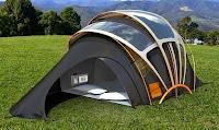 tente solaire Orange Solar Concept Tent hotspot wifi