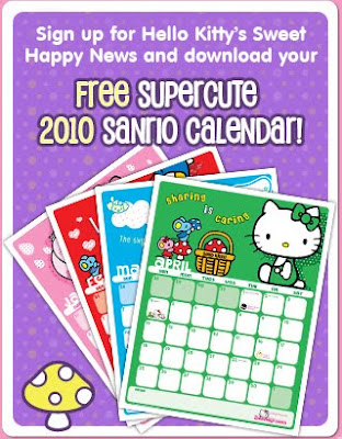Hello (Kitty) 2011: the calendar. Singapore 2011 Calender and School Term