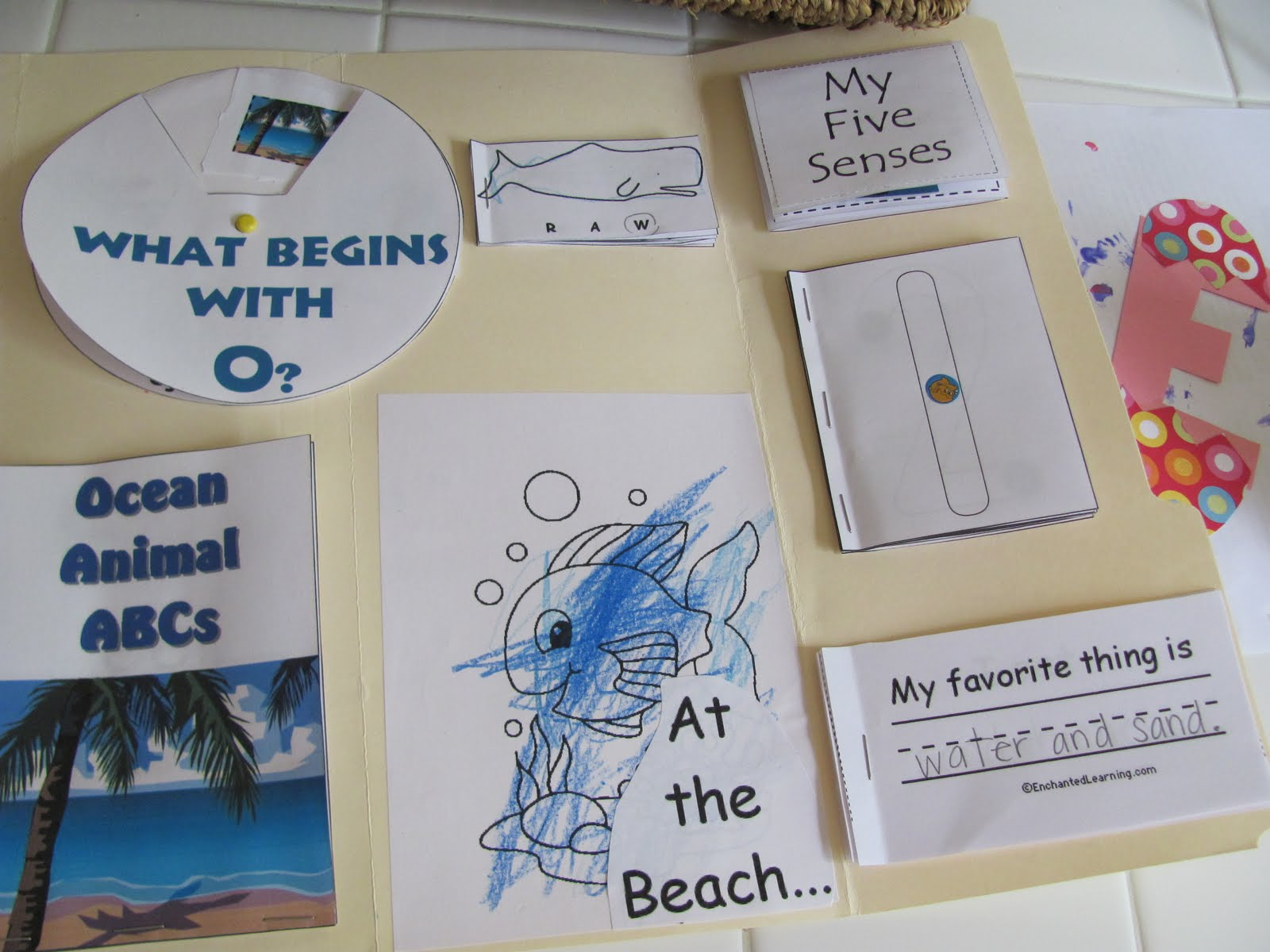 my two happy homeschoolers preschool ocean lapbook
