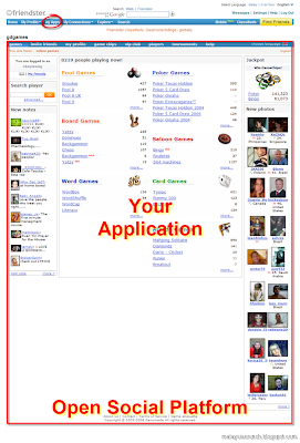 Google OpenSocial in Friendster