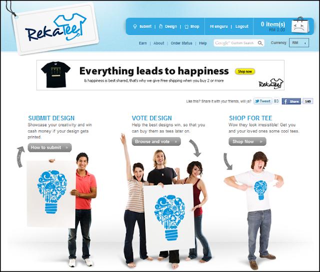 RekaTee homepage