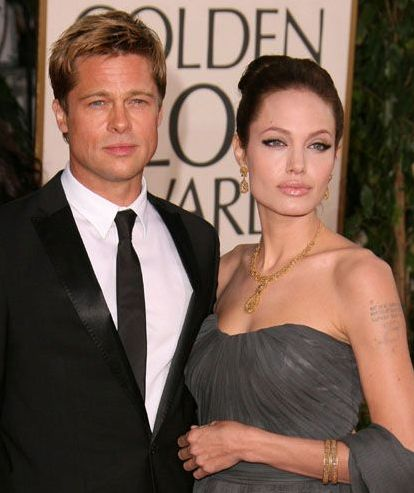 Angelina Jolie attended the 59th Annual Golden Globe Awards in Beverly Hills