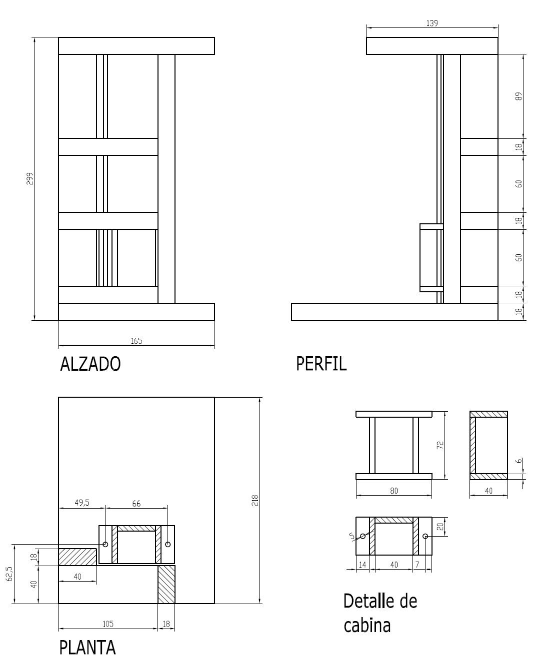 El elevador for Simbologia de muebles para planos