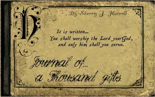 Journal of a thousand gifts