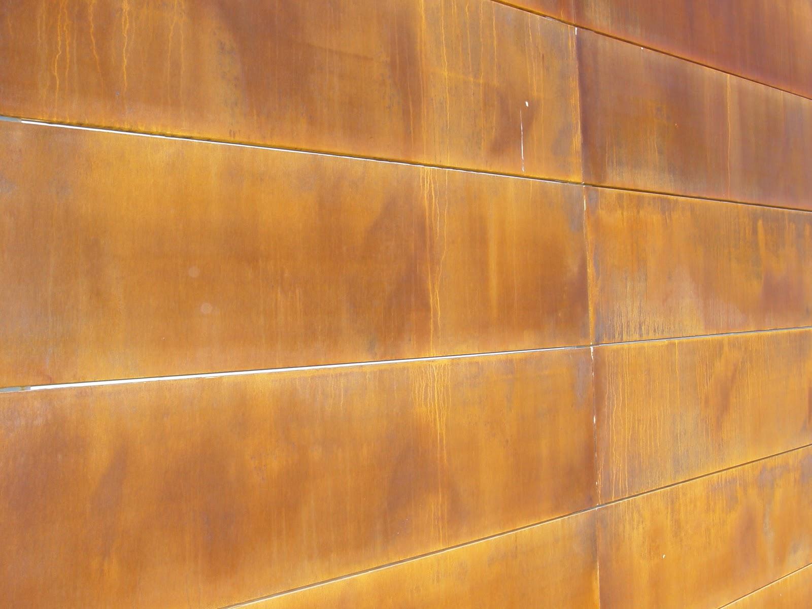 Publicaci n en la revista arte y cemento sistema for Acero corten perforado oxidado