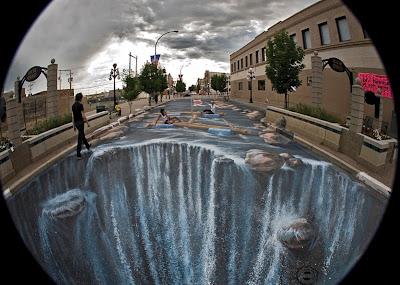 River Street - Street Painting - Edgar Muller