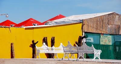 Mexique - Banc sur le port de Puerto Matteo