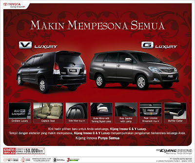 Kijang Innova V Luxury & G Luxury: More to Fascinate All (2009)