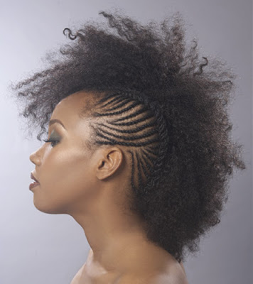 black girls with mohawks. enough to rock one. edgy