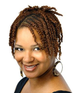 two strand twist updo. natural hairstyle  CREATIVE  Make