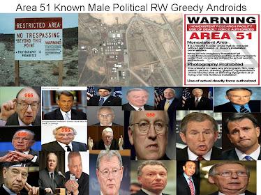 Male Politicians/ Corporate Criminals Sought by Area 51