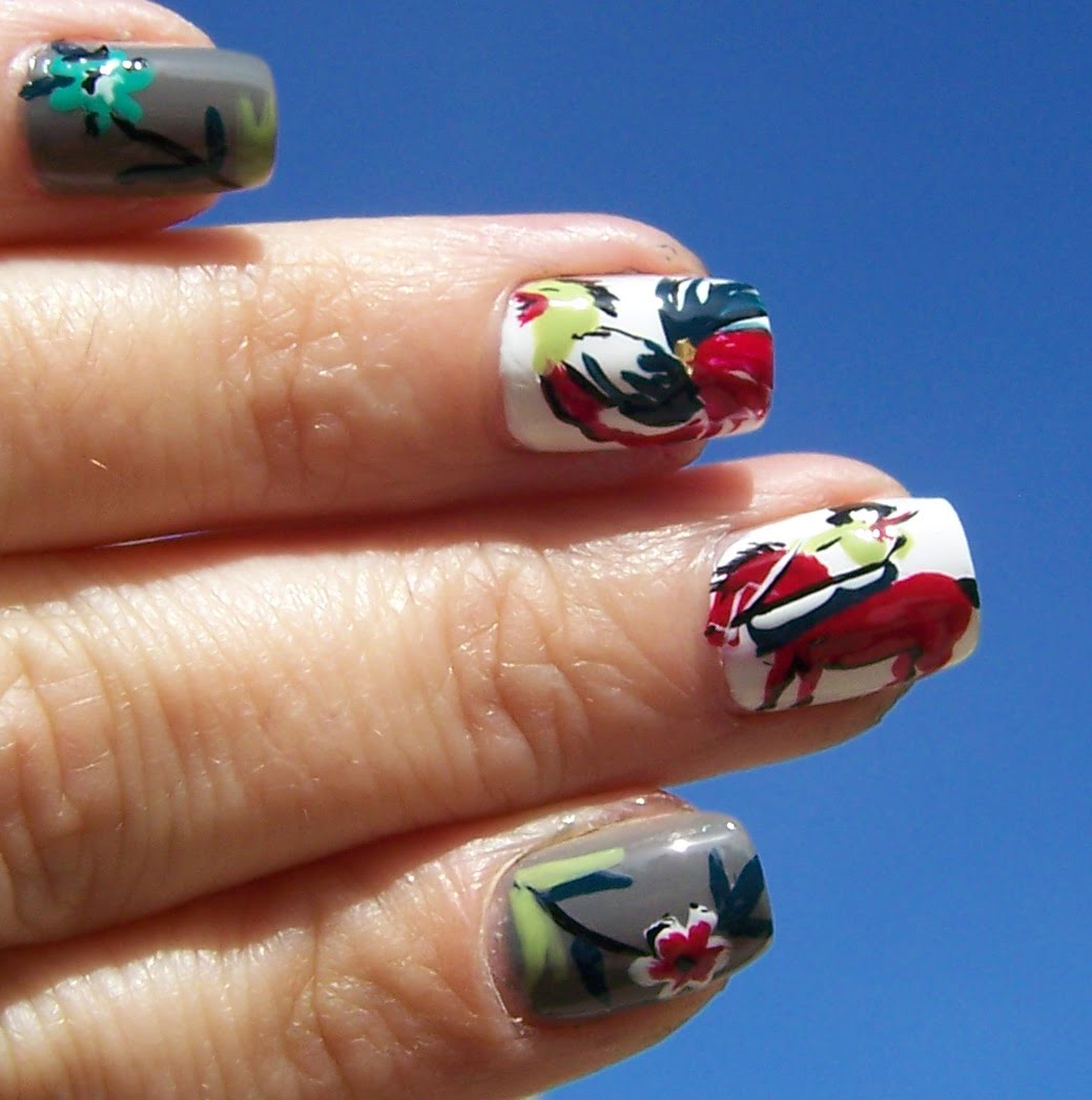 Iceomatics Nails Vintage Cowboy Nail Art For Phds Challenge