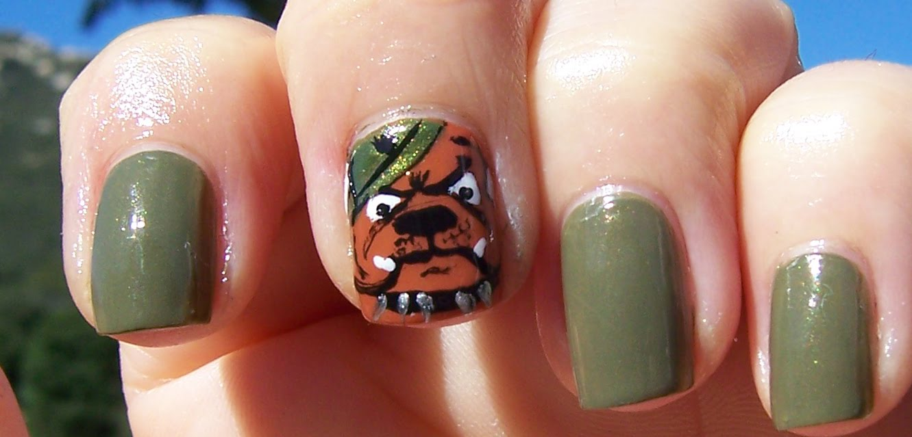 Memorial Day Marine Corps Nail Art