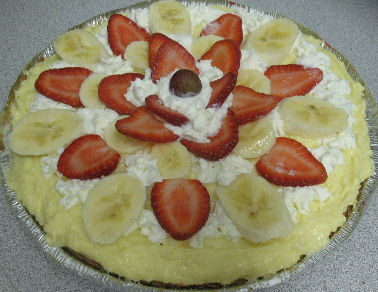 Strawberry Banana Pie
