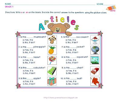 Printables Worksheet On Articles For Grade 2 article 1 worksheet versaldobip bloggakuten