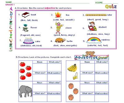 math worksheet : grammar worksheets : Adjectives Worksheets For Kindergarten