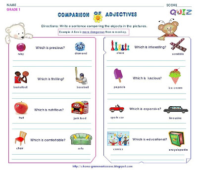 GR 1- COMPARISON OF ADJECTIVE