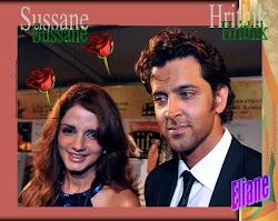Hrithik con su bella esposa
