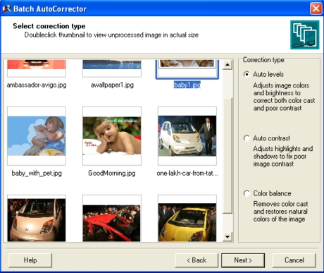 care of auto correction of