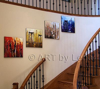 Here is one of my design ideas of the Gallery Walls on the Staircase: