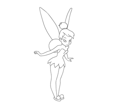 Tinkerbell Flying Coloring Pages