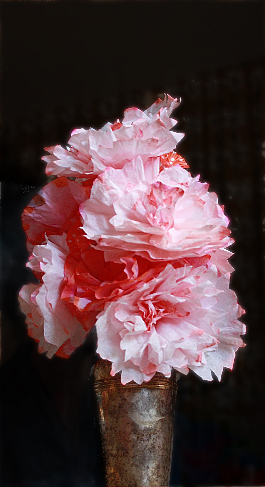 Friday Flowers: Coffee Filter Bouquet - Aunt Peaches