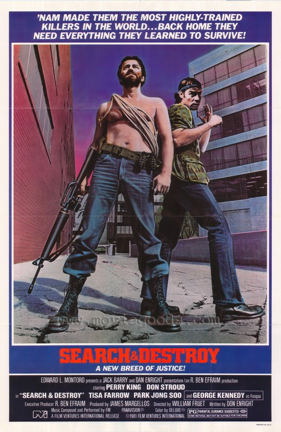 search and destroy Directed by william fruet with perry king, don stroud, tisa farrow, george kennedy the members of a vietnam veteran's old army unit start turning up murdered the police soon begin to.