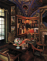 Victorian Home Library Interior Design