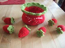 Heklet jordbærsett