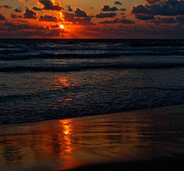 Eng Owendstemmung op dem Reenroe Beach