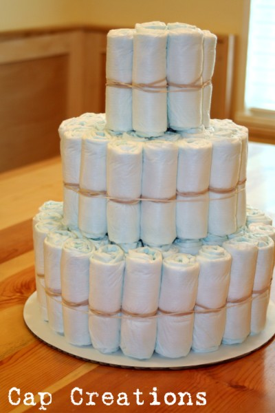 How To Make A Diaper Cake Out Of Blankets