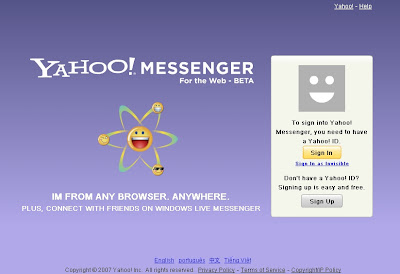 yahoo web messenger