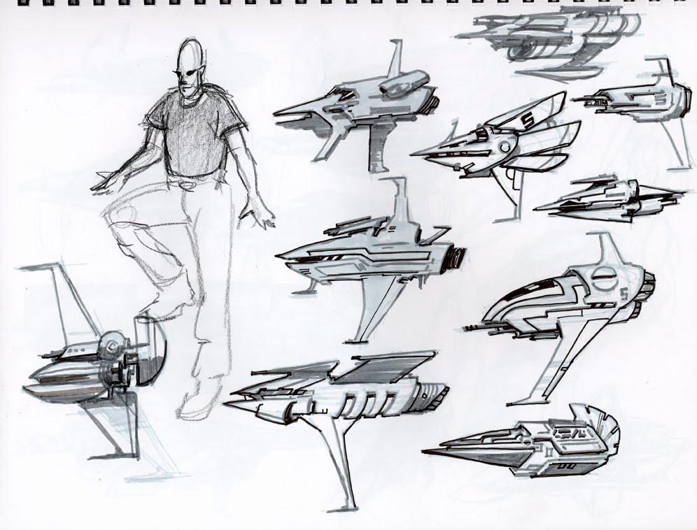amazoncom blast spaceship sketches and renderings - 996×758
