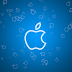Apple Logo Flakes Blue and Red HD Wallpapers