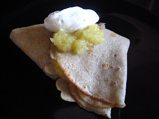 Buckwheat Crepes with Shawn's Applesauce by Ng @ Whats for Dinner?
