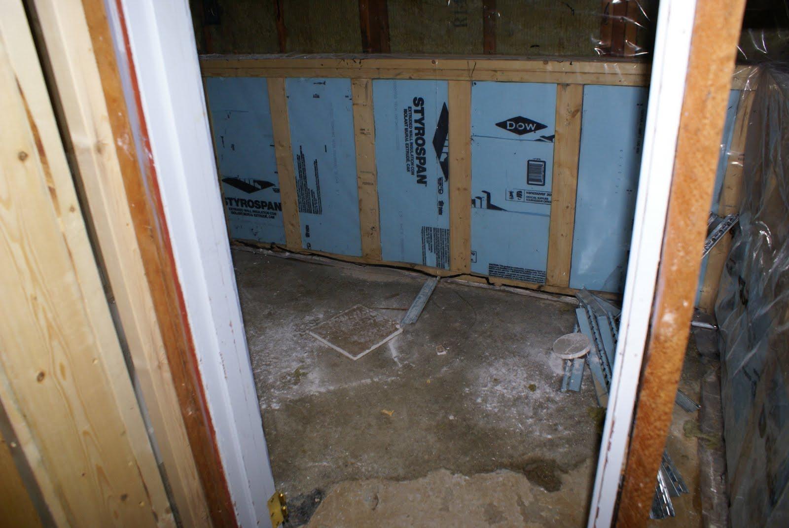 Floor Drain In Upstairs Bathroom : My big break basement bathroom update