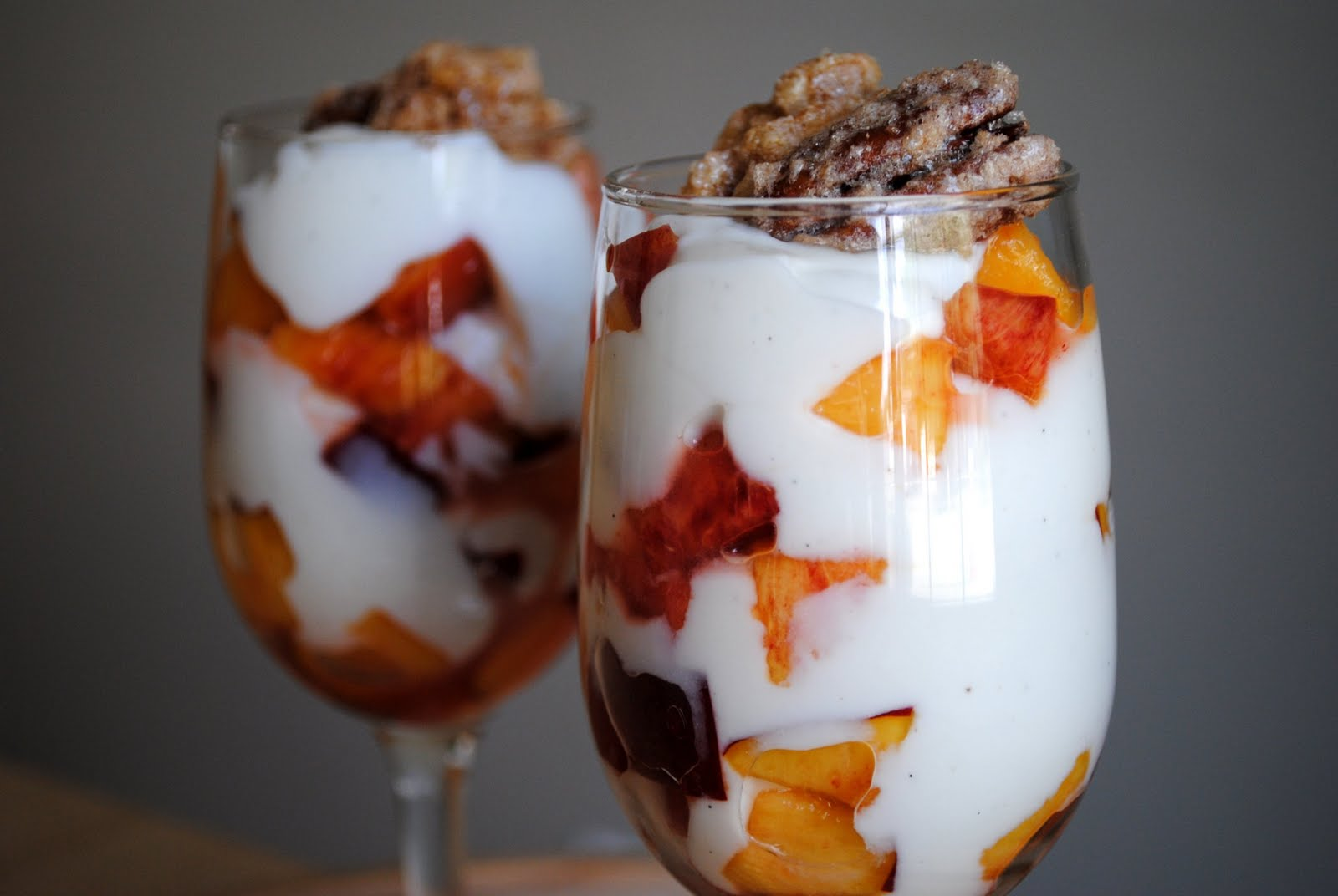Simply Scratch Vanilla Bean Yogurt and Nectarine Parfaits with Candied ...