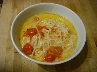 pumpkin and tomato laksa
