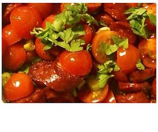 chorizo & tomato salad