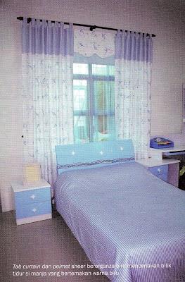 biru menceriakan bilik tidur si manja bertemakan warna biru
