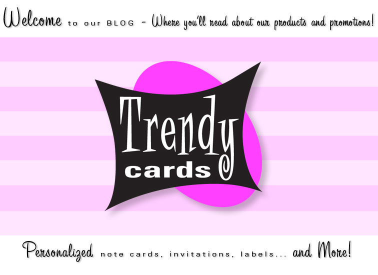 Trendy Cards : Personalized Stationery