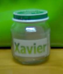 Boião com nome: Xavier