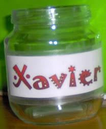 Boião com nome - Xavier