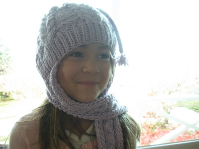 Maya Catching Butterflies Knitted Hatscarf Combo