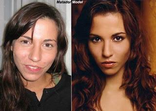 Mujeres antes y despues del Maquillaje Fotos