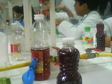 Algunos elementos y sustancias en el laboratorio...