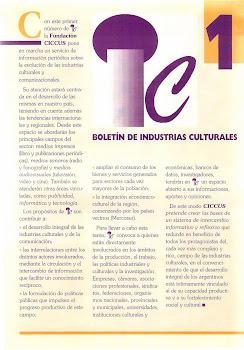 Boletin Industrias Culturales 1
