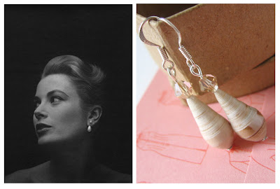 relydesign, grace kelly, drop, paper, earrings,