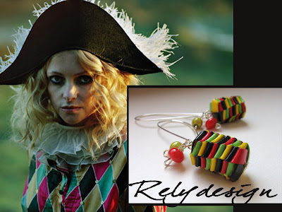 relydesign harlequin earrings carnival etsy carnevale paper folded